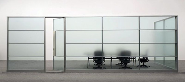 frosted glass partition wall