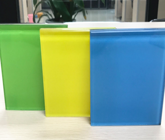 Colorful temepred laminated glass supplier