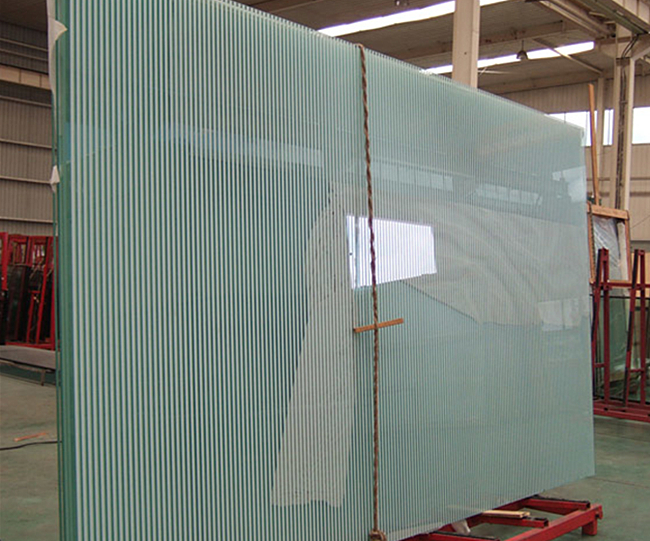 white color screen printing glass panels
