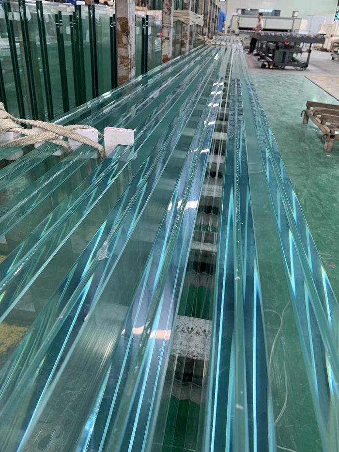 ultra clear jumbo size tmpered laminated glass