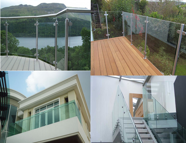 safety tempered laminated balustrade glass