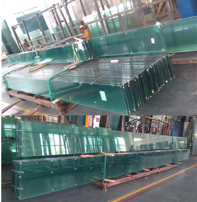 large panel clear float glass