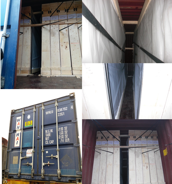 packaging of 12.38mm laminated glass