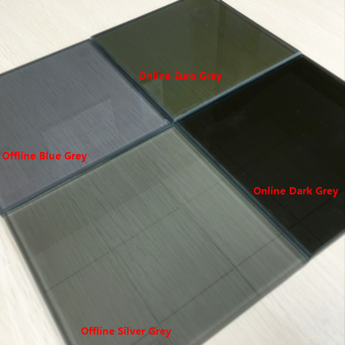8.38mm gray color laminated reflective glass price