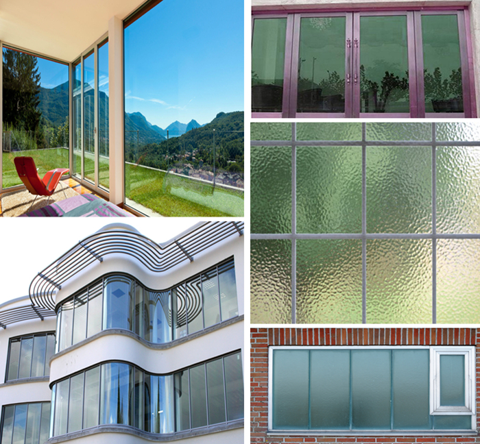 Different types window glass
