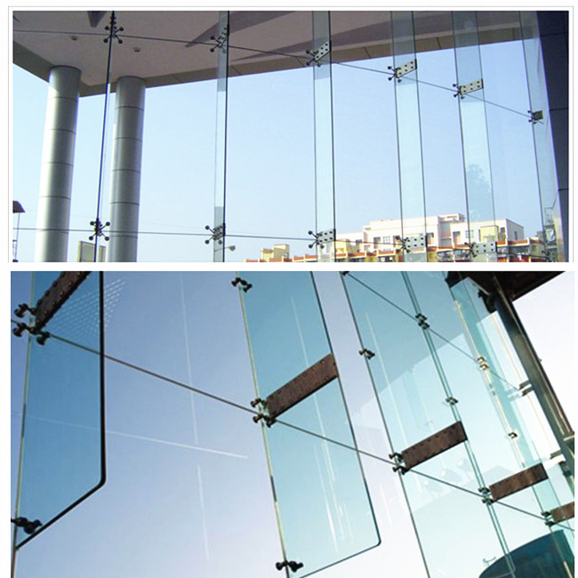 laminated glass facade support fin
