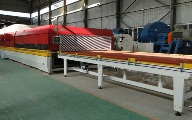 Toughened glass production line