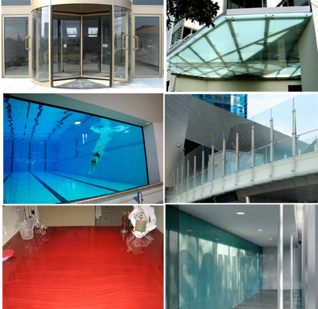 15mm clear float glass application