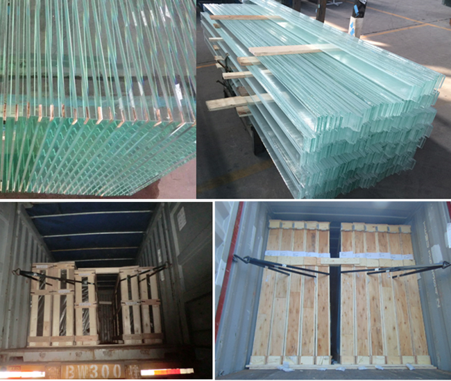 super clear glass packing and loading