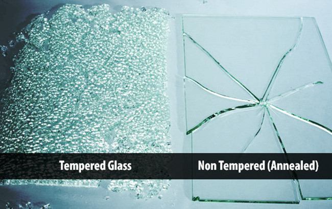 tempered glass and non- tempered glass