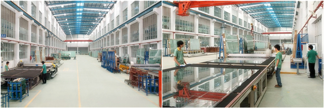 Anti-reflective glass production plant