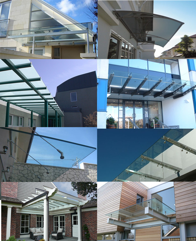 5+5mm laminated glass canopy thickness