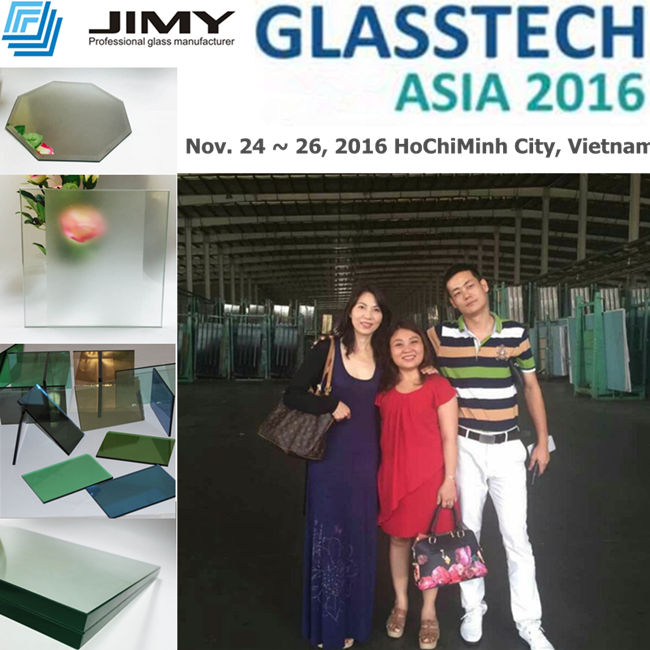 JIMY GLASS company attend the GLASSTECH ASIA 2016