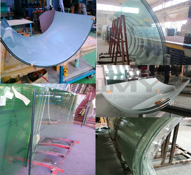 11.52mm colored bending laminated glass factory