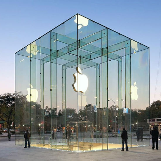 jumbo size tempered laminated glass for apple flagshop store
