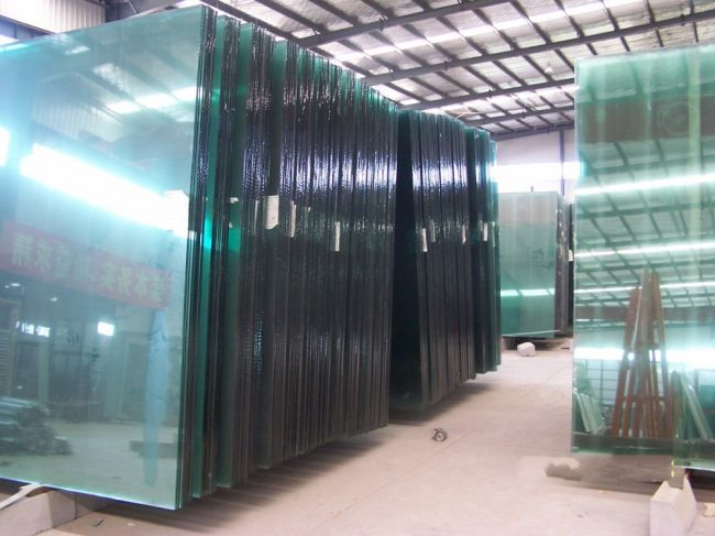 clear float glass warehouse