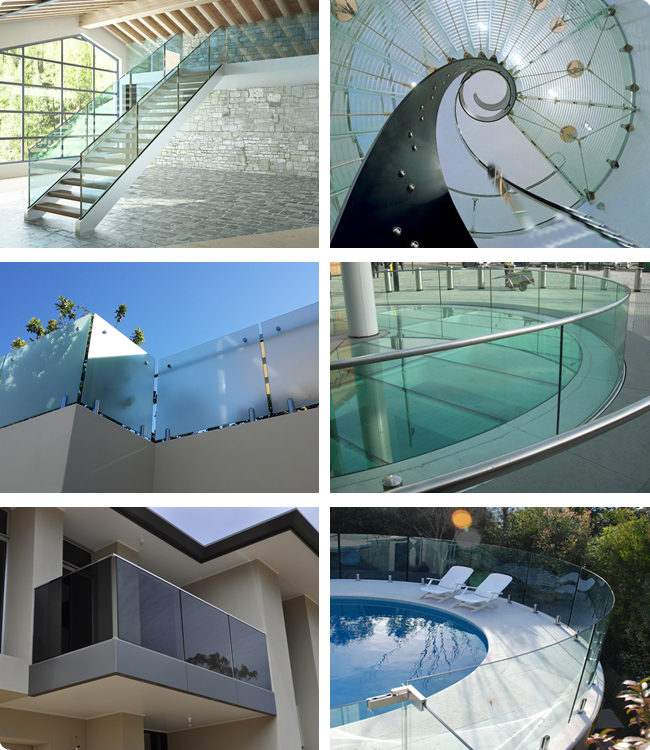 21.52mm banister laminated glass manufacturer