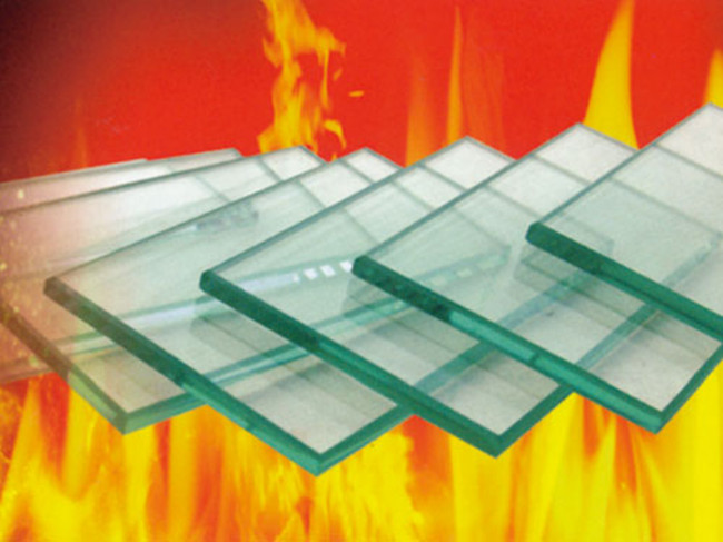 single panel and compound anti fire glass