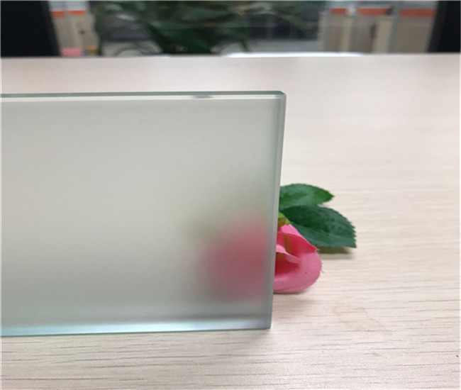 6mm Acid Etched tempered glass factory