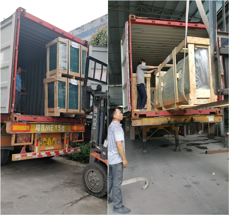 Packaging and loading for facade glass