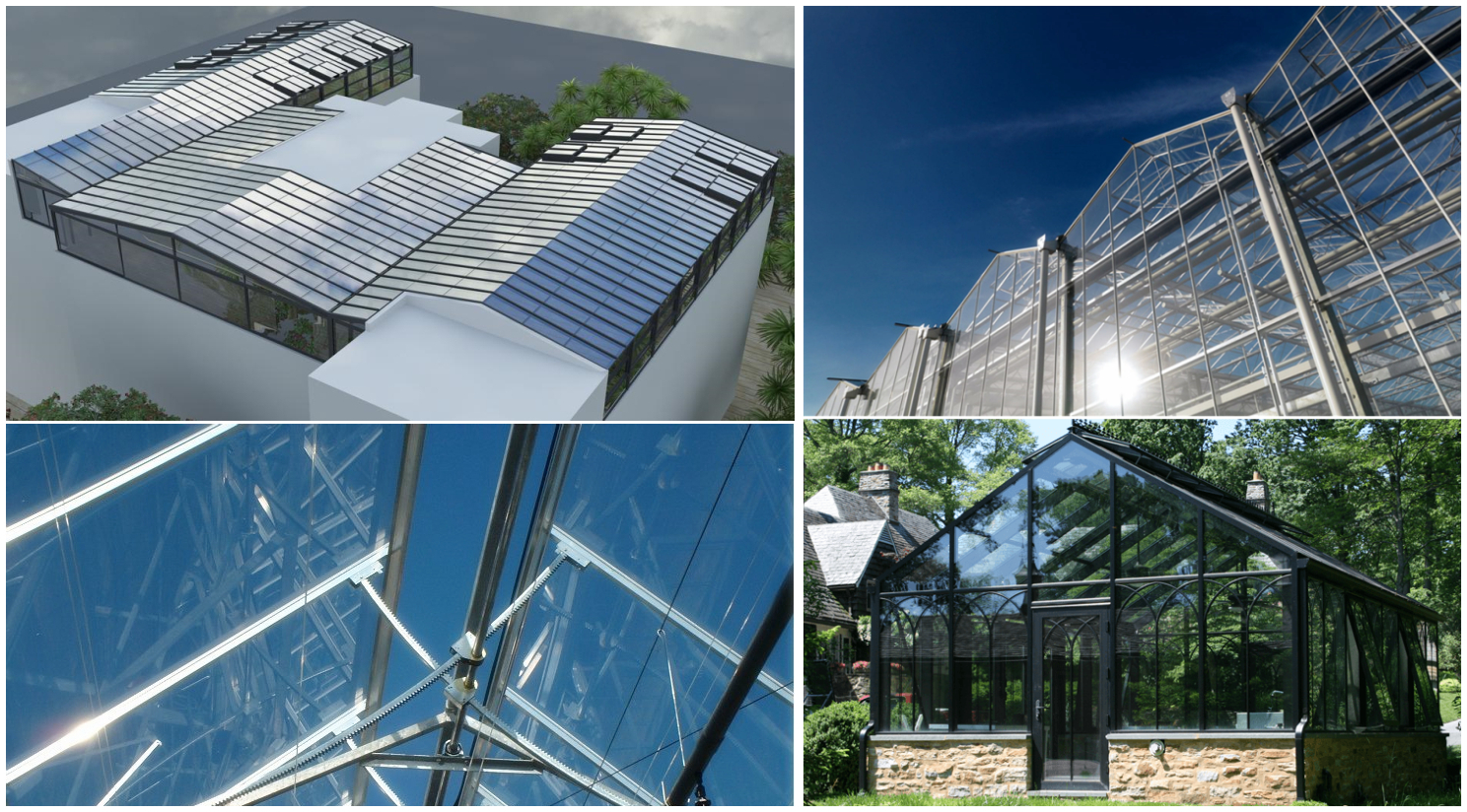 Tempered glass greenhouse roof