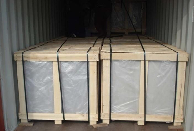 curved annealed glass safety packing and loading