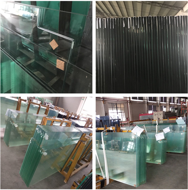 tempered safety glass curtain