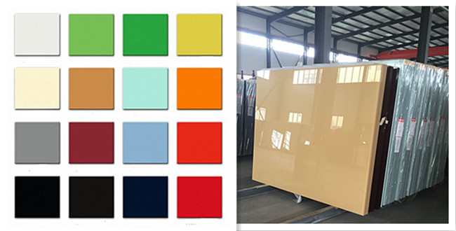 color tempered glass splashback