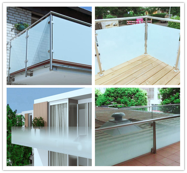 VSG 442 frosted laminated glass for railing