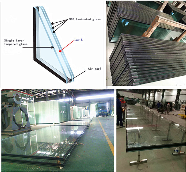 12+16A+13.52mm SGP laminated insulated glass