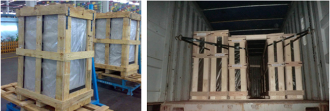 laminated glass packing and loading