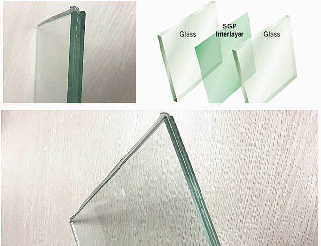 11.78 ultra clear SGP laminated glass
