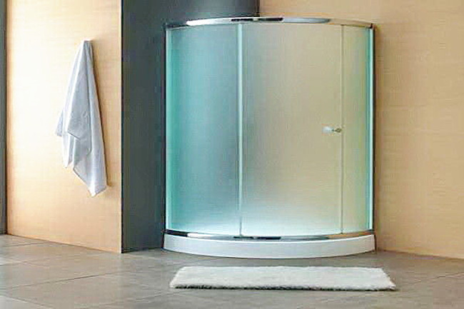 bend acid etching toughened glass shower door