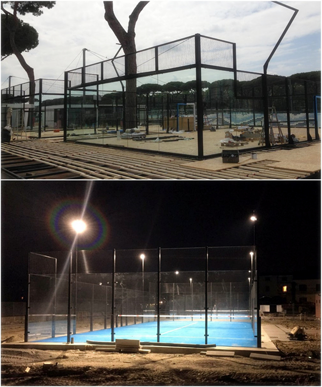 Tempered glass padel court