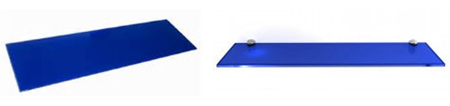 5mm dark blue glass shelf