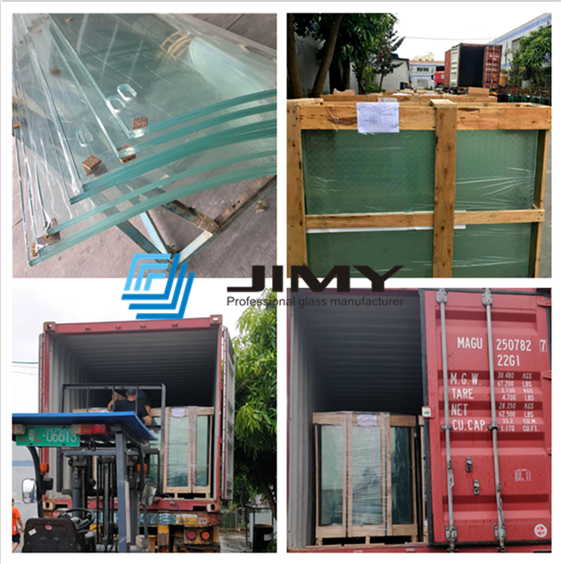 packing of super clear glass