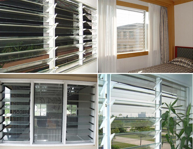 clear pattern glass louver glass