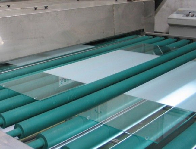 acid etched glass production