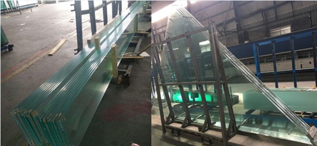 jumbo size HST toughened laminated glass