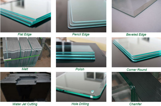 flat polished tempered glass