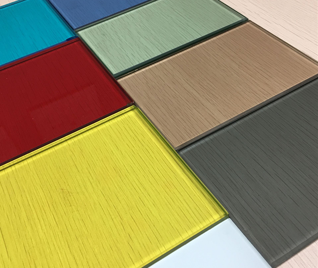 6mm colored laminated glass