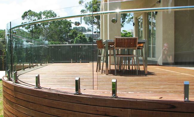 CE Certified tempered glass balustrade