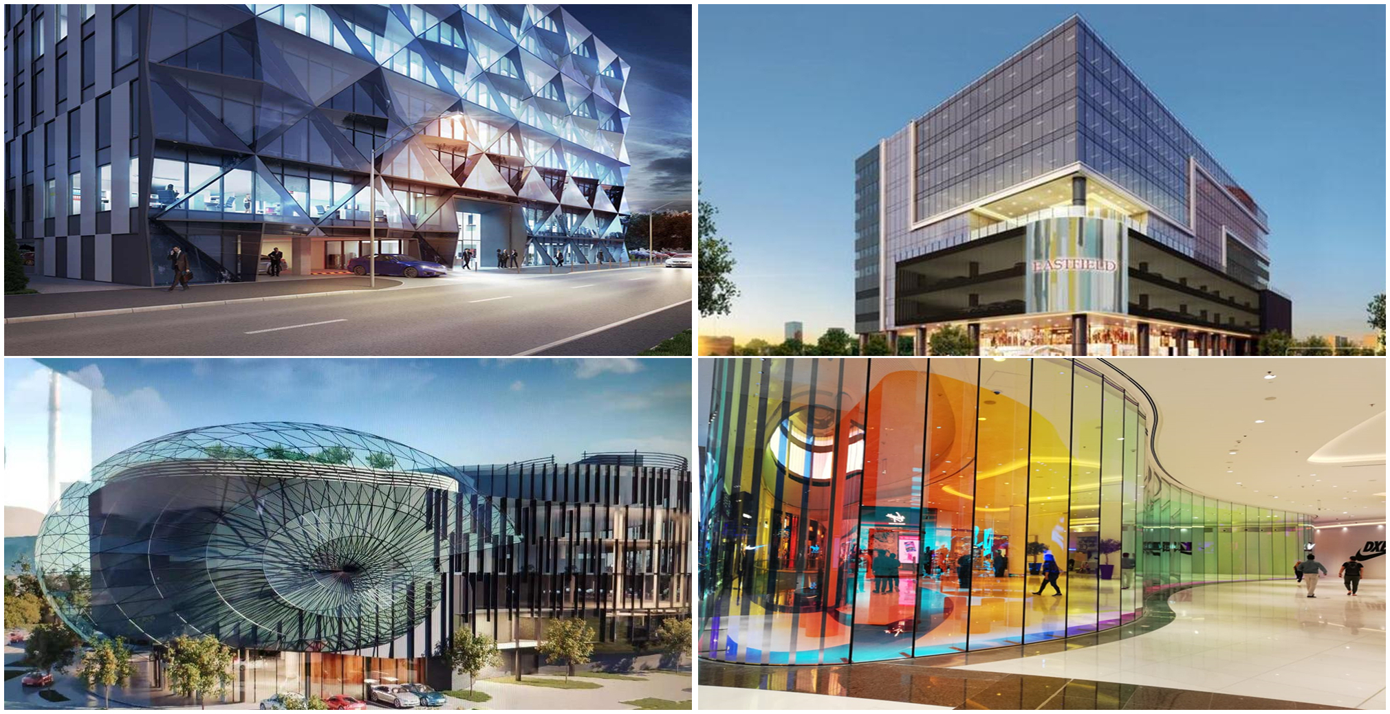 Shopping mall facade projects Jimy