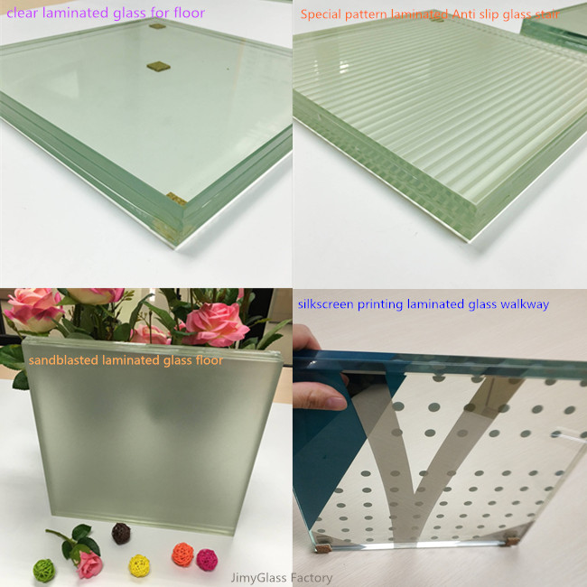 Slip resistance glass floor factory