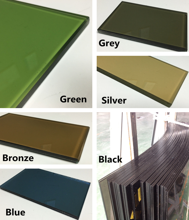 color reflective safety laminated glass