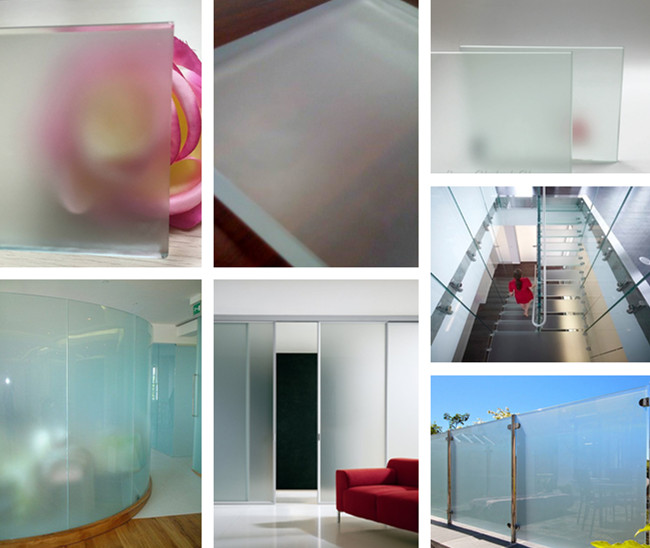 19mm frosted tempered safety glass application