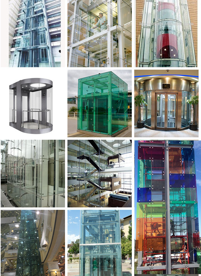 various types glass lift