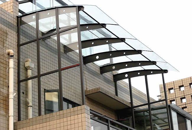13.14mm clear PVB laminated glass use for canopy: