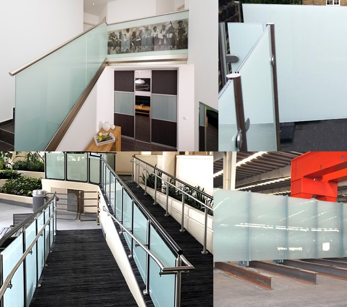 4+4mm laminated balustrade glass factory