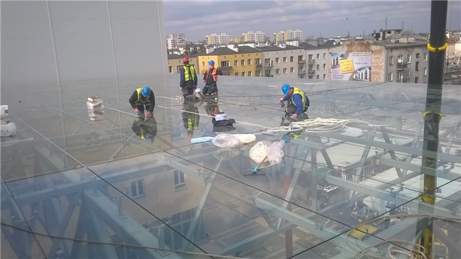 jumbo size 884 safety glass for roof